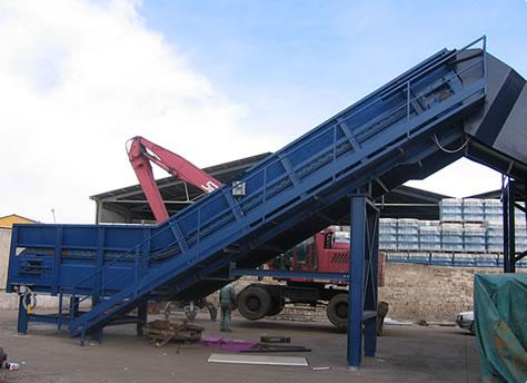 Nastri trasportatori lavorazione rottami metallici img 8 - Tappeto trasportatore ...